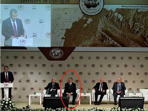 Chilingaroy is the figure circled on the left in attendance at the Forum (Credit: SLD)