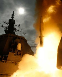 Japanese Aegis flight test. (Credit: US Naval Forces Central Command Public Affairs, 12/18/07)